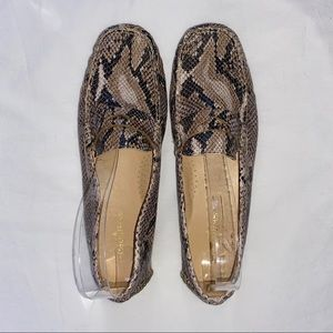 COLE HAAN Snakeskin Embossed Leather Loafers